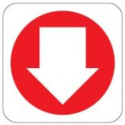 Fire Safety Sign - Fire Arrow Down 014